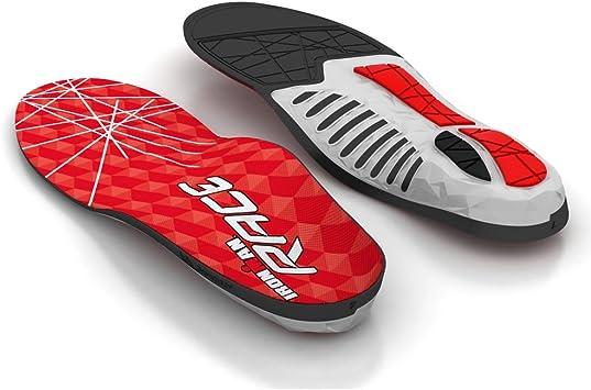 Spenco Ironman Plantillas Deportivas Total Race Ultra Delgadas con Triple Acolchado - Soporte Arco Semi Flexible - Material Anti Fricción - Absorven Impacto - Control Postura - Talla 4-5: Amazon.es: Zapatos y complementos