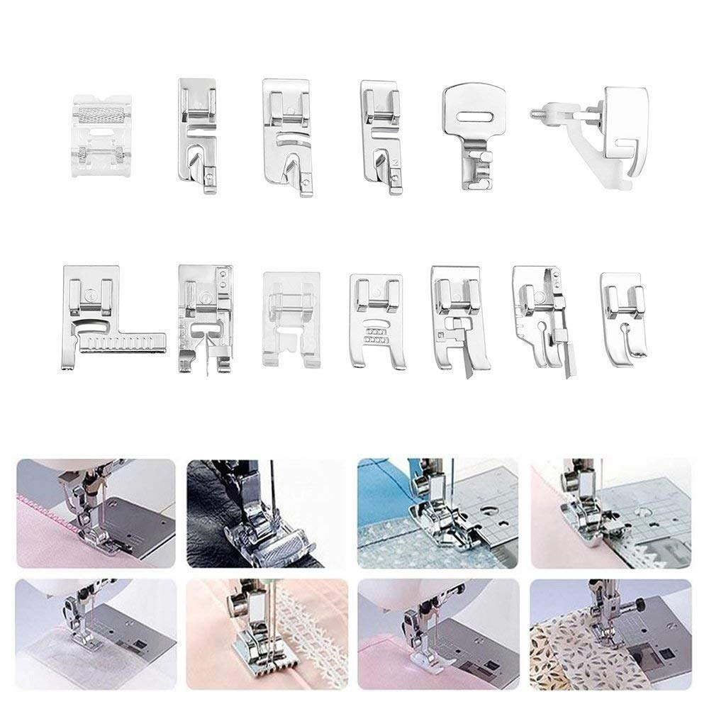 Babylock,Elna,Toyota,New Home,Simplicity and Low Shank Sewing Machines Janome,Kenmore Professional Domestic Sewing Foot Presser Foot Presser Feet Set for Singer 52 Pcs Deluxe Package Brother