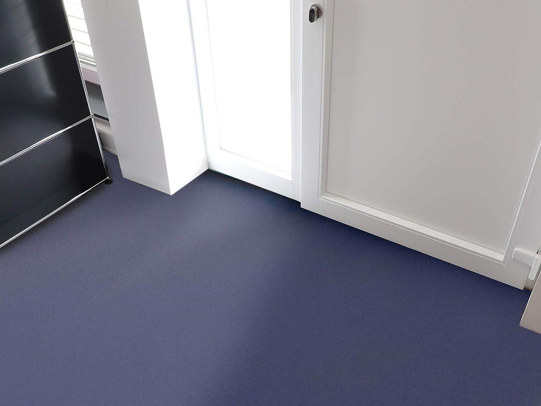 Einfarbig PVC Bodenbelag EXPOTOP Profi Vinylboden Schwer Entflammbar Blau MUSTER Uni Anthrazit PVC Boden Meterware Vinyl