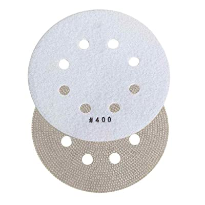 """Specialty Diamond BRTD6400 400 Grit 6"""" Thin Electroplated Dry Pad for Orbital Sanders: Home Improvement"""