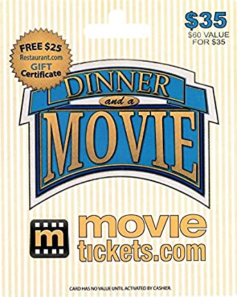 Amazon.com: MovieTickets.com $35 Gift Card: Gift Cards