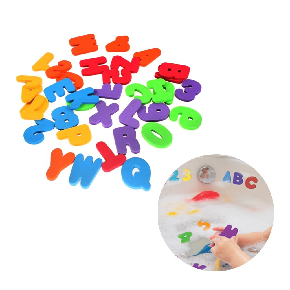 TOYMYTOY 36Pcs Baby Bath Toy Letters Numbers Educational Learning Water Classic Toys
