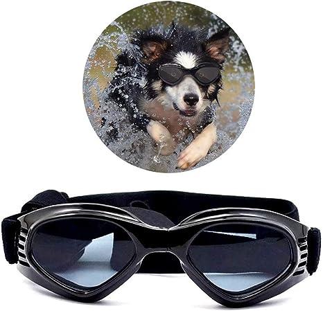 con protecci/ón UV para perros resistentes al agua con correa ajustable Voarge Gafas de sol elegantes y divertidas