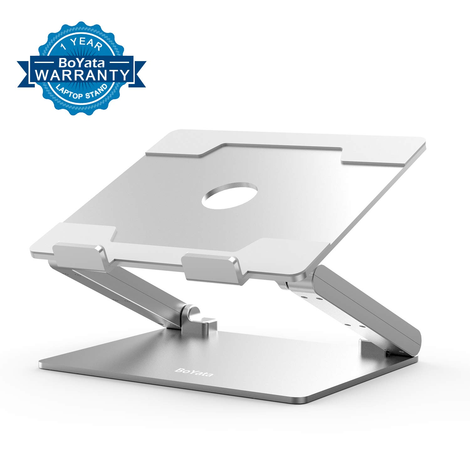 Laptop Stand, Boyata Laptop Holder: Multi-Angle Stand with Heat-Vent to Elevate Laptop, Adjustable Notebook Stand for Laptop (up to 17 inches) Including MacBook Pro/Air, Surface Laptop,Toshiba, HP by Boyata