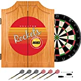 Trademark Global NBA Houston Rockets Wood Dart Cabinet, One Size, Brown
