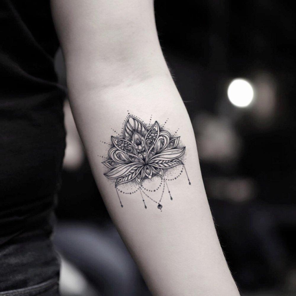 Tatuaje Temporal de Mandala De Loto (2 Piezas) - www.ohmytat.com ...