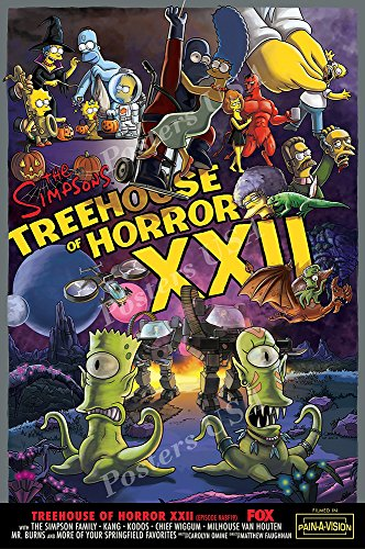 Posters USA - The Simpsons Treehouse of Horror XXII TV Series Show Poster GLOSSY FINISH - TVS388 (16