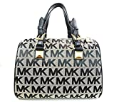 Michael Kors MD Grayson Satchel Handbag Signature MK