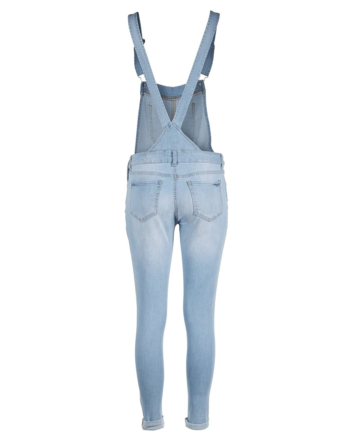 62be1779d7f Dream Supply Women s Juniors Distressed Skirtall Adjustable Strap Overalls  at Amazon Women s Clothing store