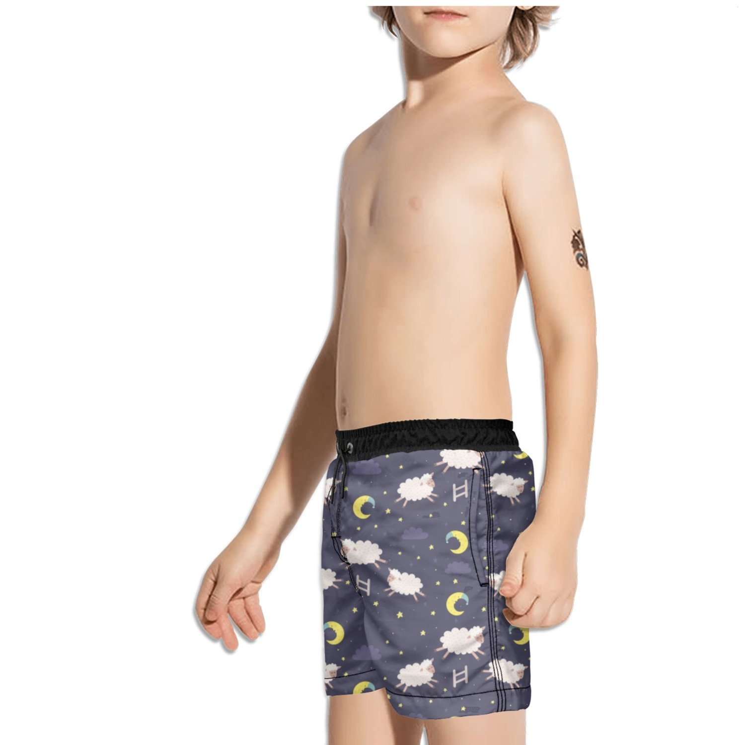 Ouxioaz Boys Swim Trunk I Just Freaking Love Goats Beach Board Shorts
