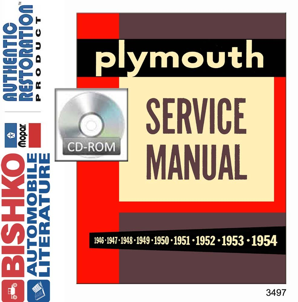 Amazon.com: bishko automotive literature 1954 Plymouth Belvedere Plaza  Savoy Shop Service Repair Manual CD Engine: Automotive