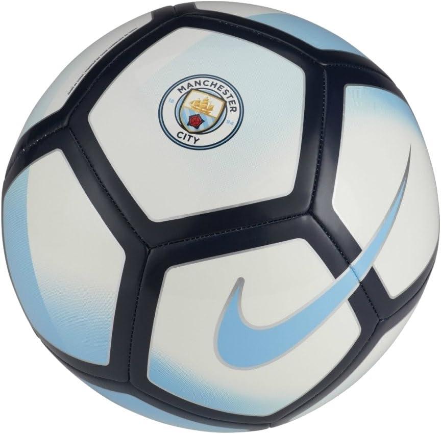 Nike Manchester City Pitch Balón de fútbol - Blanco/Azul Campo ...