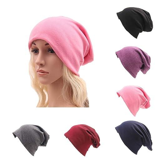d78a1019c0e CAMTOP Women Men Slouchy Beanie Hat Baggy Cotton Chemo Cap Soft Stretch  Skull Cap Hip-