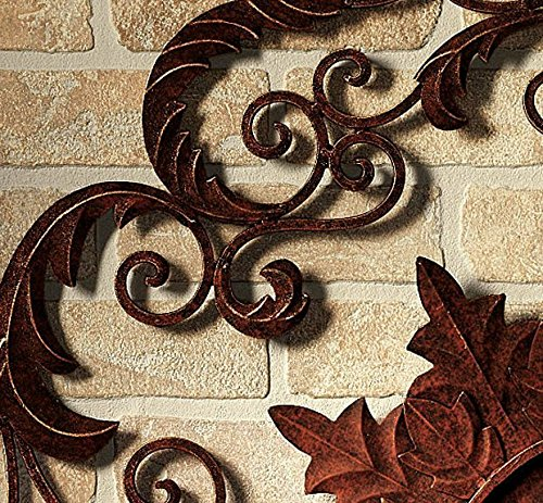 Outdoor Wall Art Metal Scroll : Lavish iron scroll monogram initial letter wall grille
