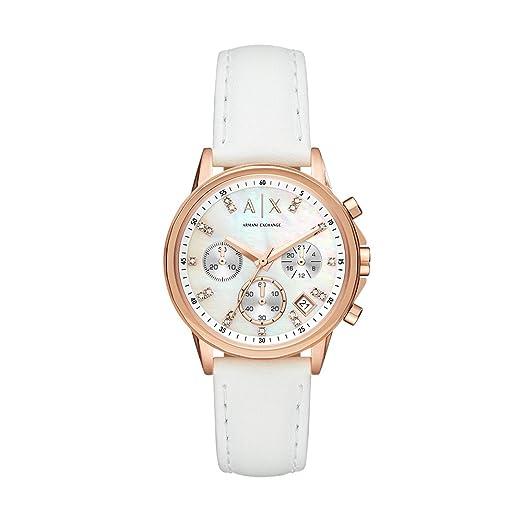 Armani Exchange Reloj Cronógrafo para Mujer de Cuarzo con Correa en Cuero AX4364: Amazon.es: Relojes