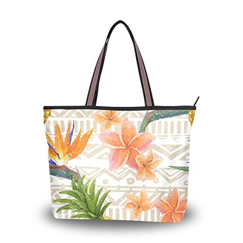79e93500061d Amazon.com: MAPOLO Tropical Exotic Flowers And Pineapple Fashion ...