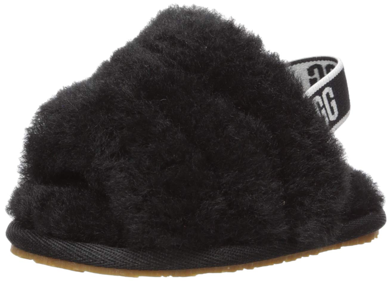 UGG Baby I Fluff Yeah Slide Flat Sandal, Black, 04/05 M US Infant by UGG