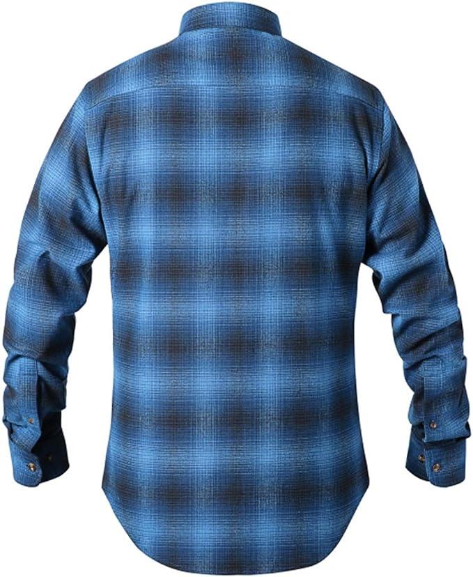 Camisa Franela Manga Larga Cuadros Hombre P-08(S, Blue): Amazon.es: Ropa y accesorios