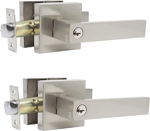 Brushed Nickel Entry Locks ORB Privacy Passage Door Lever Handles Dummy Knobs