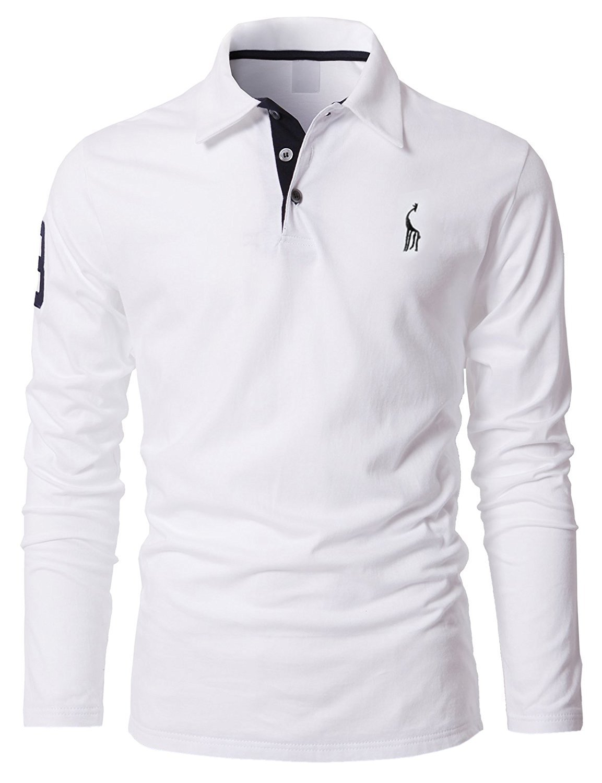STTLZMC Mens Long Sleeve Giraffe Tennis Polo Shirts LSMAN00298LSC
