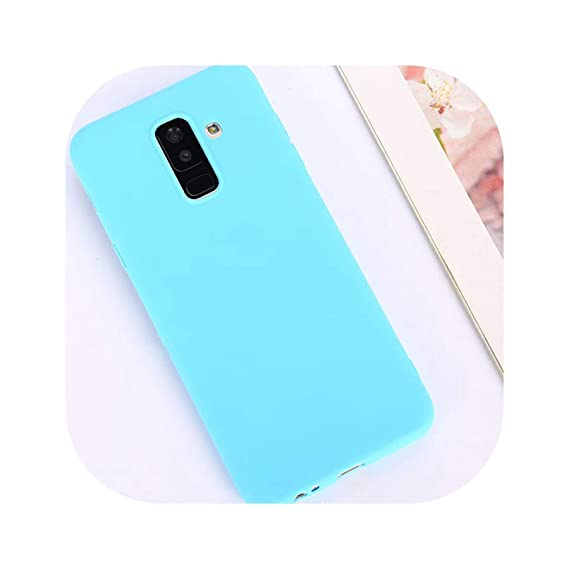 Candy Color Case for Samsung Galaxy A50 A70 A5 2017 J4 J6 Plus J8 A8 A6 A7 2018 S8 S9 S10 Plus S10E Note9 M20 Soft Cover,Blue,Sector 0