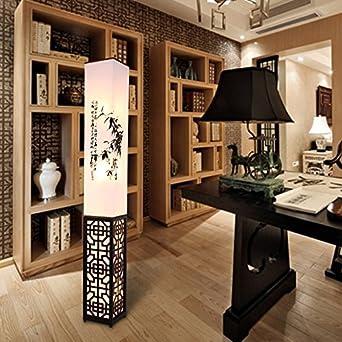 LightSei  Klassische Chinesische Art Wohnzimmer Schlafzimmer Arbeitszimmer  Raum Led Ausgehöhlte Schnitzen E27 Führte Holz Stehlampe