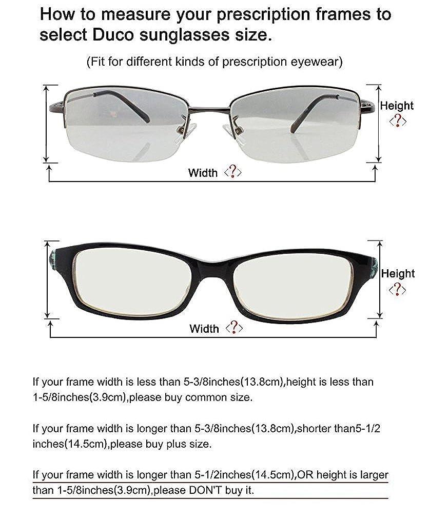 DUCO Polarisierte Nachtfahrtbrille Überbrille für Korrektionsbrille ...