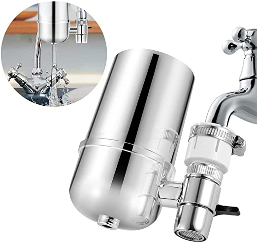 ToDIDAF Filtro de agua potable, para fregadero de cocina o baño montura de grifo purificador de filtración, vida del filtro 2 – 3 meses, 4.7 x 3.9 x 2.8 pulgadas ...