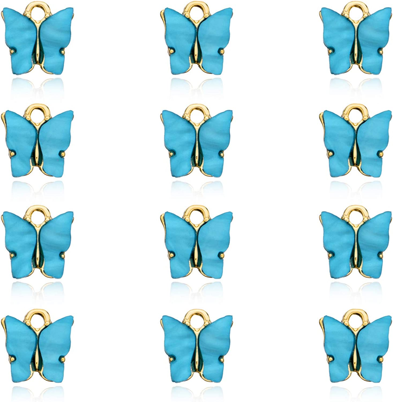 Bracelet Making Handmade Jewelry Butterfly Charms Blue Enamel Animal Pendants