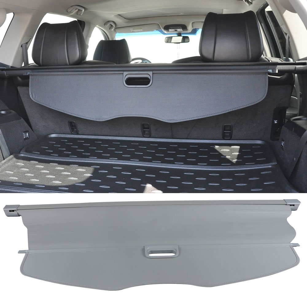 Cargo Cover Fits 2007-2013 Acura MDX   OE Style Gray Retractable Rear Cargo Security Trunk Cover Grey by IKON MOTORSPORTS   2008 2009 2010 2011 2012