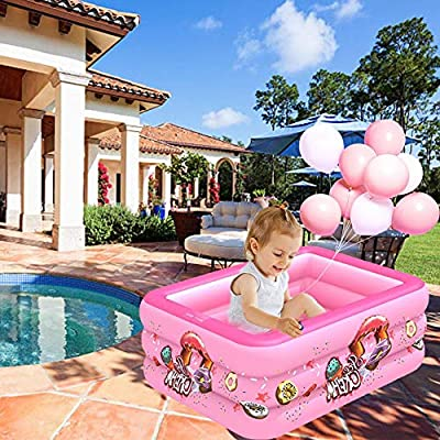 cheerfullus-123 Kids Inflatable Swimming Pool,Outdoor Indoor Backyard Blow Up Pool for Family Adults and Toddlers,Kids Baby Square Pool Play Center: Sports & Outdoors
