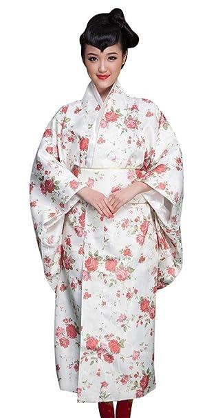 Amazon.com: SATUKI Kimono japonés tradicional para mujer ...