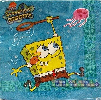 Spongebob Squarepants Jellyfishing Package of 16 Beverage Napkins