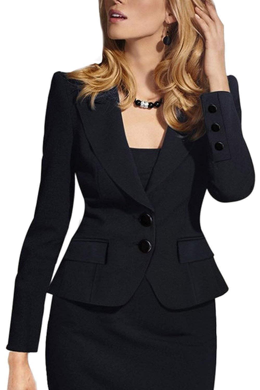 Cappotto Donna Eleganti Fashion Manica Lunga Slim Fit Festa Style Bavero Primaverile Blazer Corto Autunno Ufficio Business Camicia Giacca da Tailleur Prodotto Plus Ragazze None