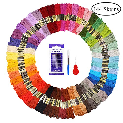 Fuyit Embroidery Floss 144 Skeins Cross Stitch Threads for F