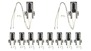 (10 Pack) : 41-205 - ClimaTek Direct Replacement for Robertshaw Gas Range Oven Stove Ignitor Igniter