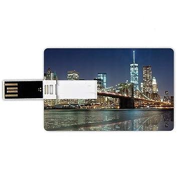 16GB Forma de tarjeta de crédito de unidades flash USB Nueva York ...
