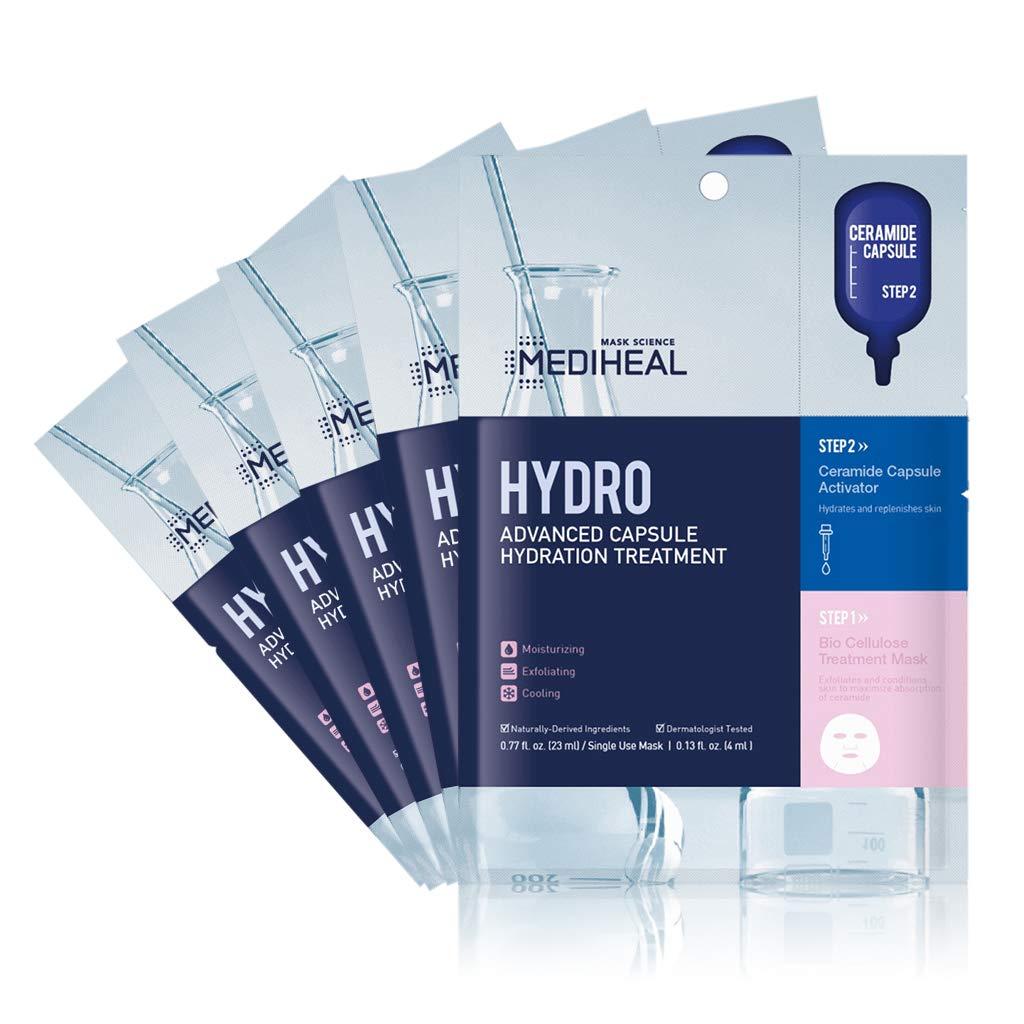 MEDIHEAL Official [Korea's No 1 Sheet Mask] -Hydro Advanced Capsule Hydration Treatment (5 Masks)