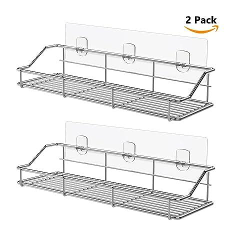 Amazon.com: ODesign Adhesive Bathroom Shelf Organizer Shower Caddy ...