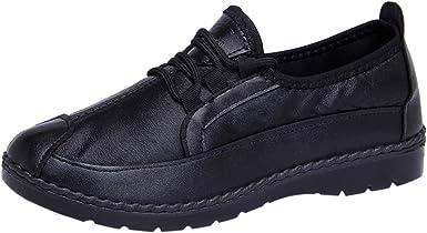 ღLILICATღ Cómodo De Las Mujeres Cuero Zapatos Mocasines De Color ...