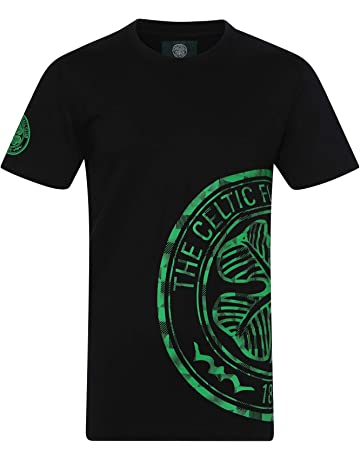 49705aeaf42 Celtic FC Official Football Gift Mens Graphic T-Shirt Grey