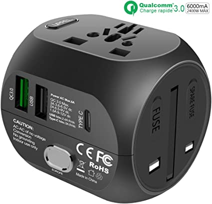 Charge Rapide QC3.0 Chargeur USB 40 W PD Type C Rapide