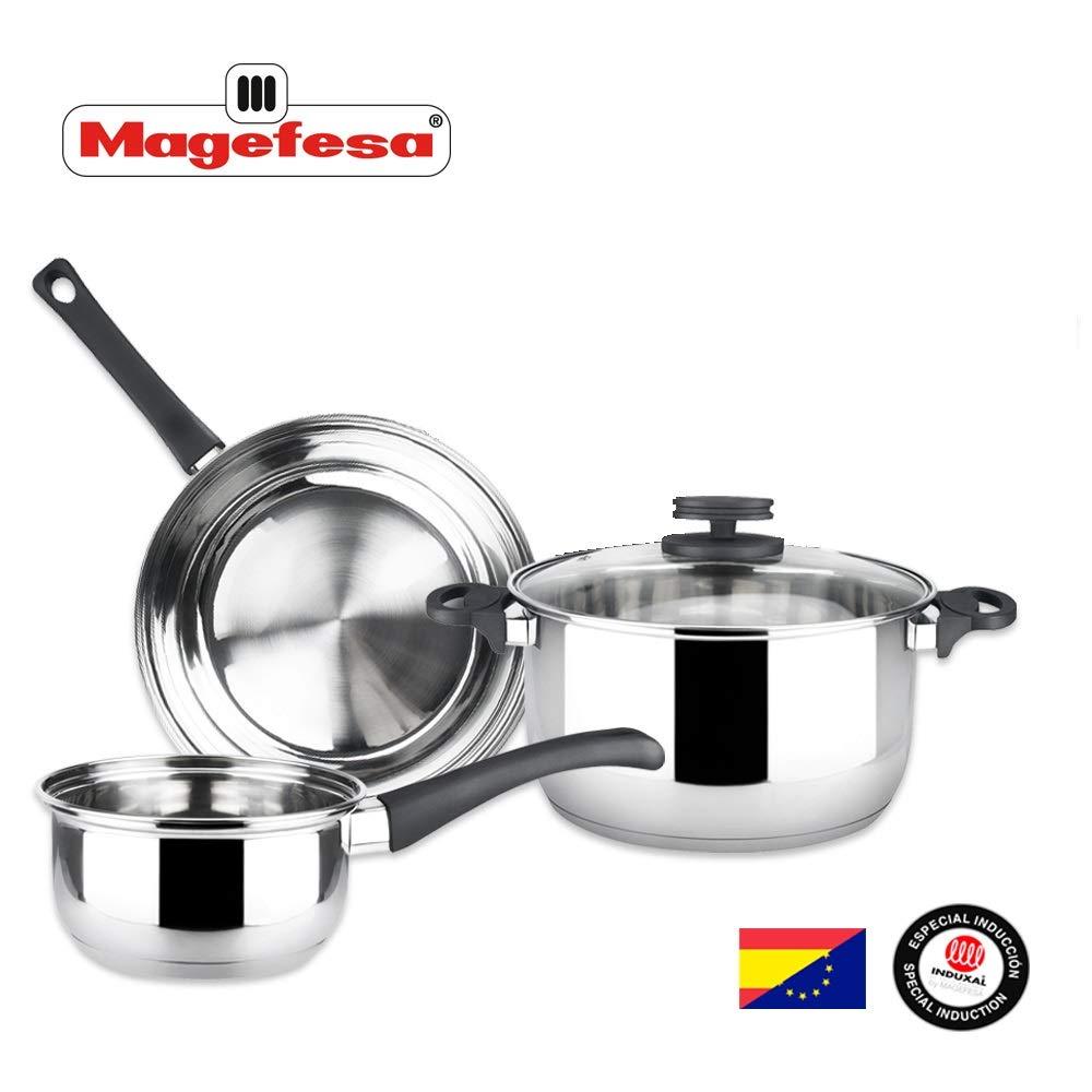 Batería de Cocina MAGEFESA Style 4 Piezas Fabricada en Acero ...