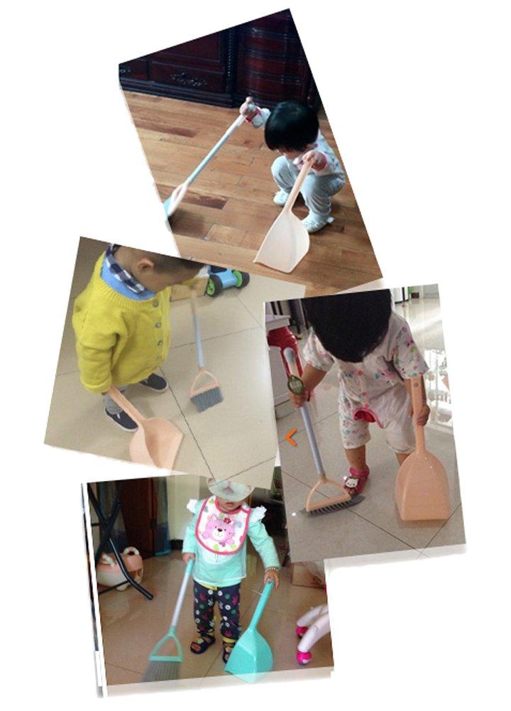 Xifan Mini Broom With Dustpan For Kids,Little Housekeeping Helper Set (Light Blue) by Xifan (Image #6)