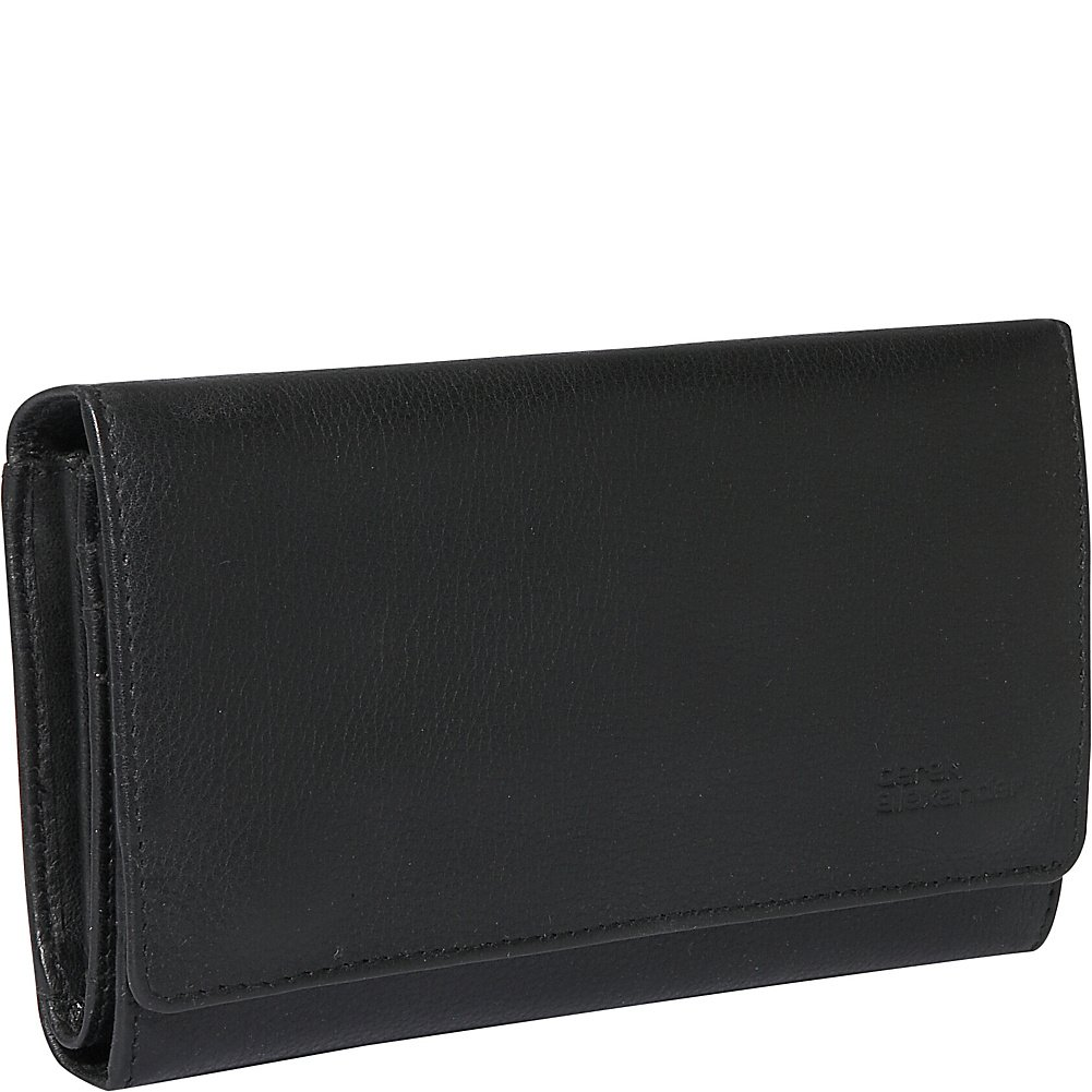 Derek Alexander Leather Large Credit Card Clutch - Black
