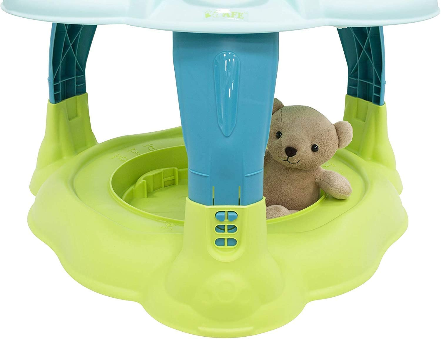 empty 2 in 1 Activity Centre Entertainer with 360deg; Rotating Seat Play Table Function Color : Dino Land