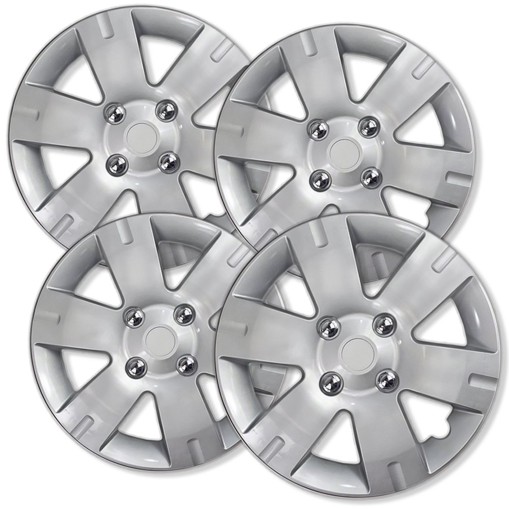 OxGord Hub-Caps for Select Nissan Sentra (Pack of 4) 15 Inch Silver Wheel Covers