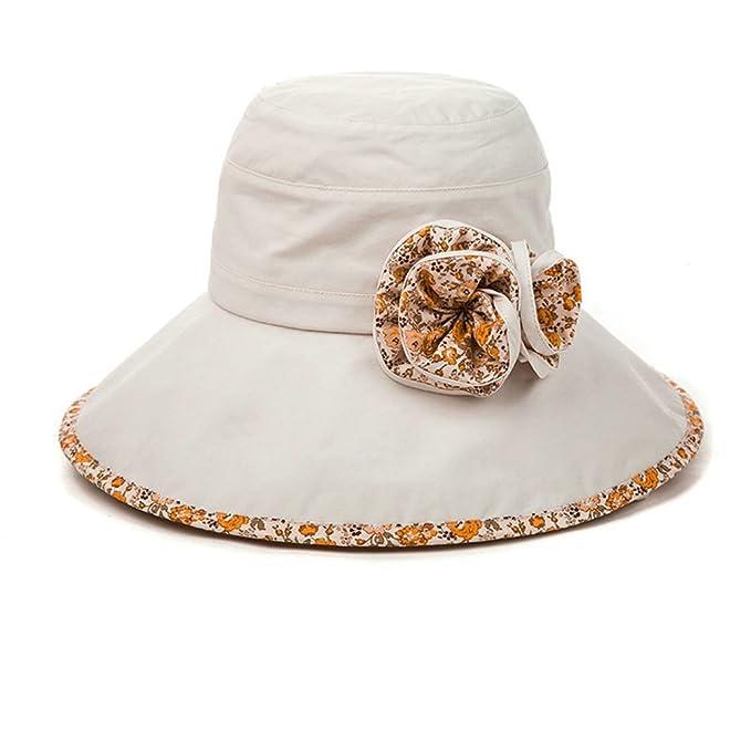 b5503a46ffd622 SIGGI Bucket Boonie Cord Fishing Beach Cap Summer Sun Hat Wide Brim for  Women UPF50+ Beige