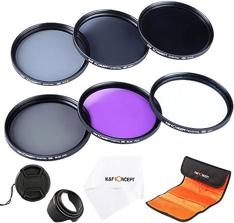 Neutral Density Filter Set Polarizing Filter ND2 ND4 ND8 67mm Lens Filter Kit K/&F Concept Slim UV Filter + Slim FLD Lens Filter Set Compatible with Canon Nikon Digital Camera