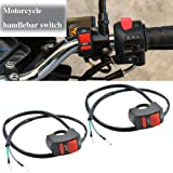 2pcs TABEN 7//8 Motorcycle Headlight Control On//Off Switch Handlebar Mount Horn Beam Winker Ignition Turn Signal Push Button Switch
